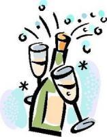 Dessin anniversaire champagne